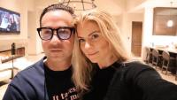Lauren Sorrentino With Mike the Situation Sorrentino In Their Kitchen