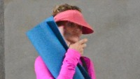 Lori Loughlin Going to Yoga Wearing a Pink Outfit