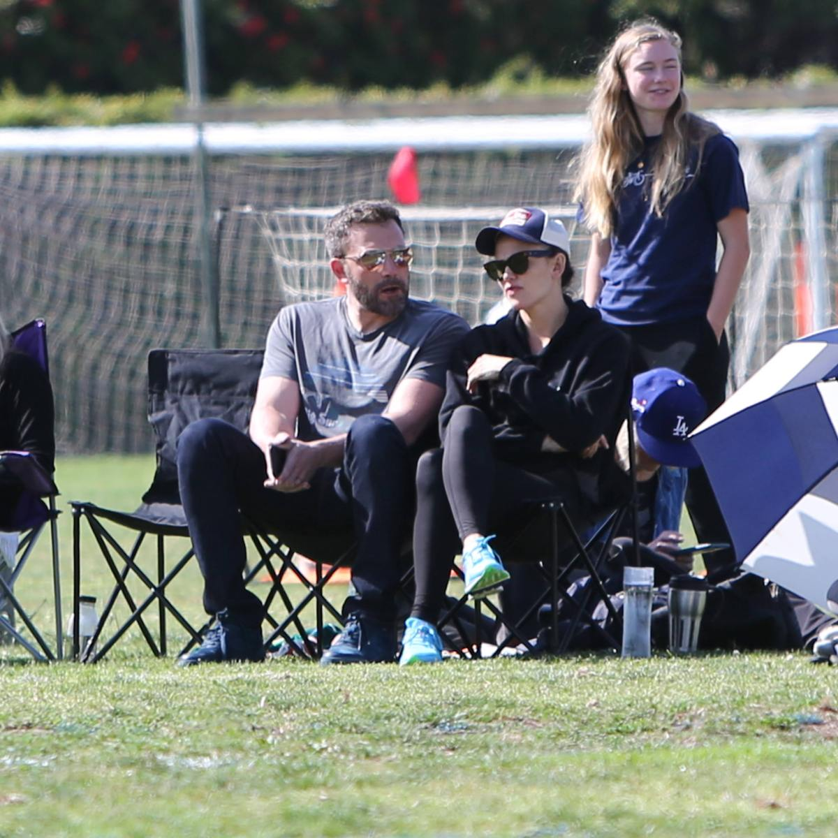 Ben Affleck and Jennifer Garner Sit Side-by-Side (and Share a Laugh!) While at a Soccer Game