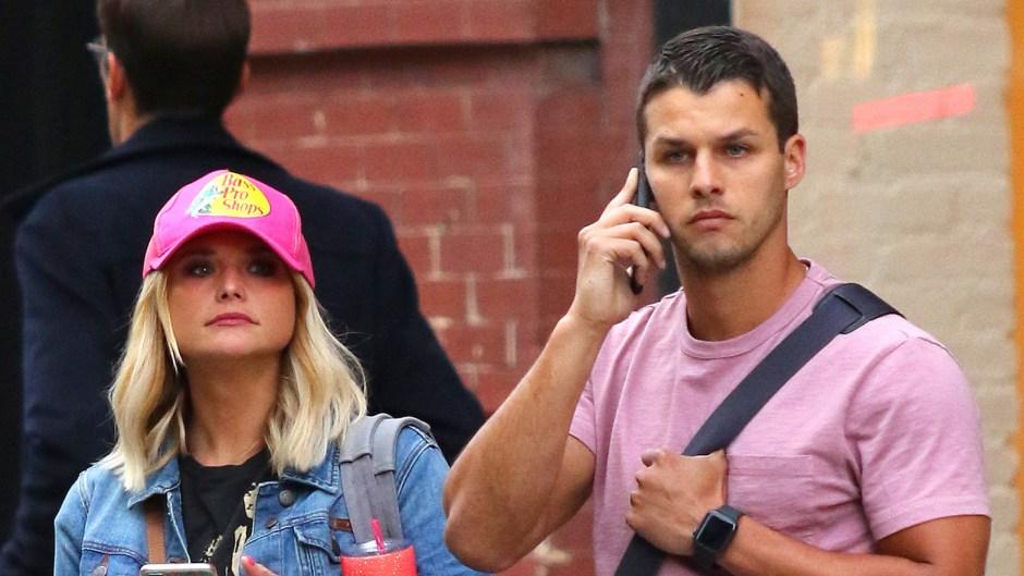 Miranda Lambert In a Pink Hat With Brendan McLoughlin in a Pink Shirt