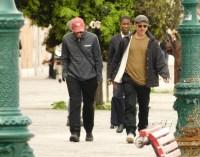Brad Pitt Wearing a Sweatshirt in Venice