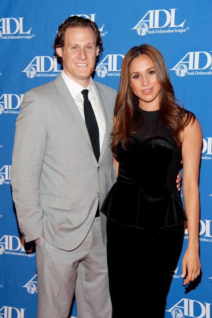 Meghan Markle In a Black Dress With Ex-Husband Trevor Engelson