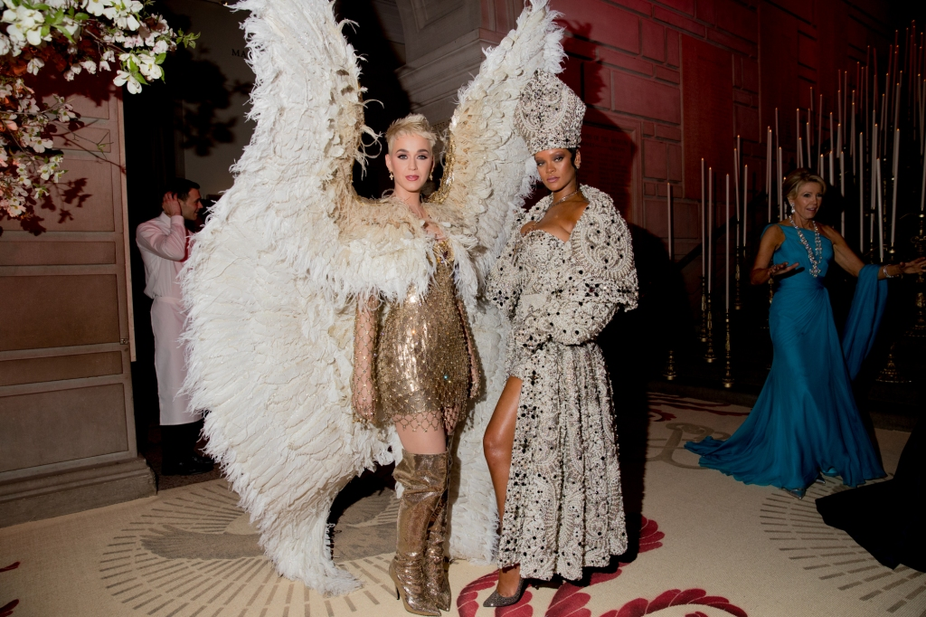 Katy Perry and Rihanna at the Met Gala in 2018