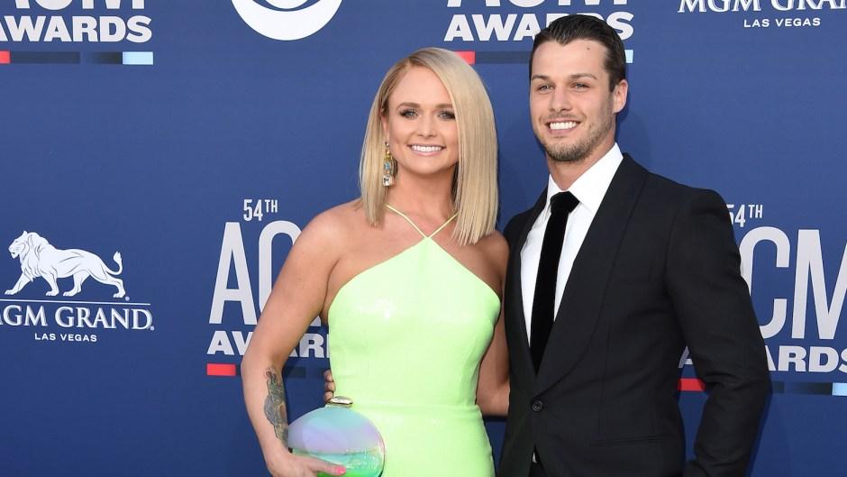 Miranda Lambert Wearing a Green Dress With Husband Brendan
