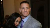 Nikki Bella Giving John Cena a Hug