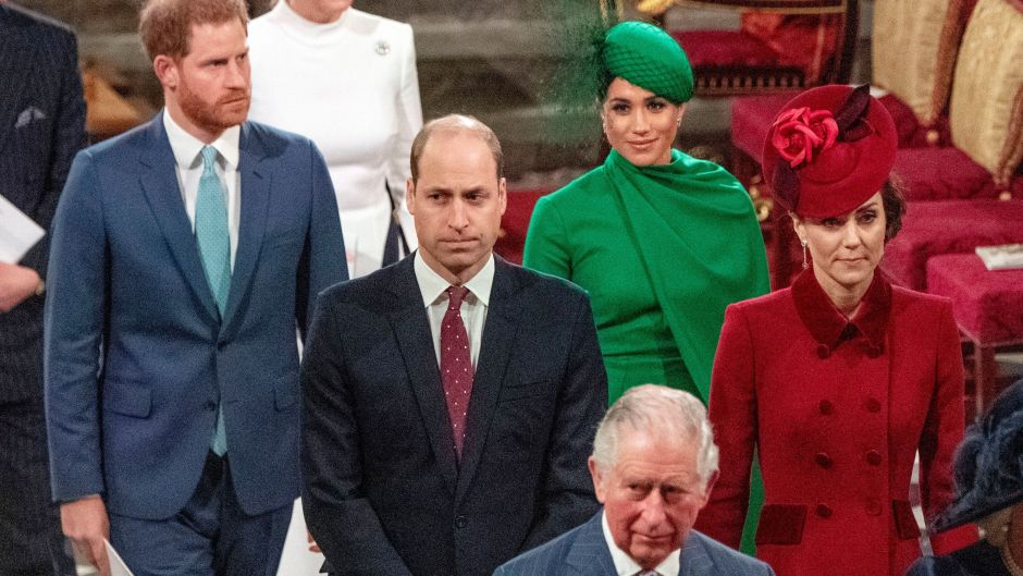 Prince Harry, Meghan Markle, Prince William and Duchess Kate