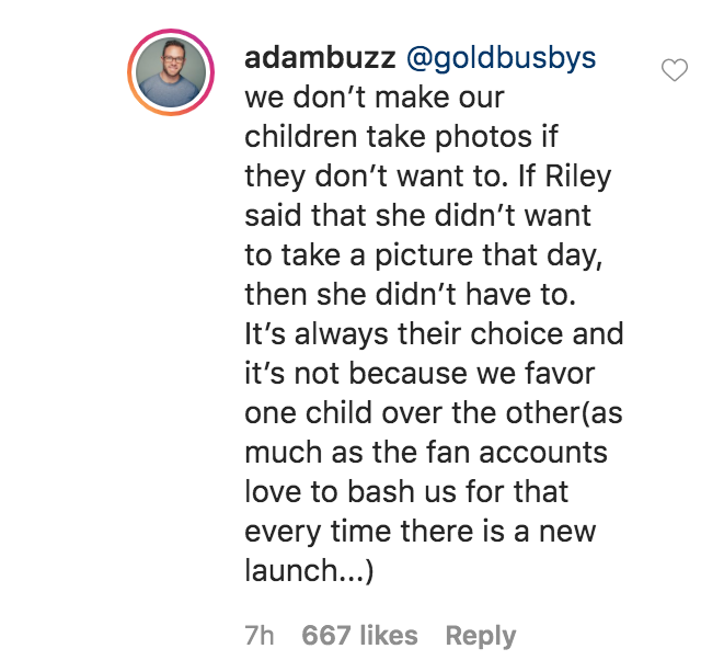 Adam Busby Clears the Air About Riley