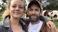 Sophie Perry With Her Late Father Luke Perry Wearing a Hat and Jacket