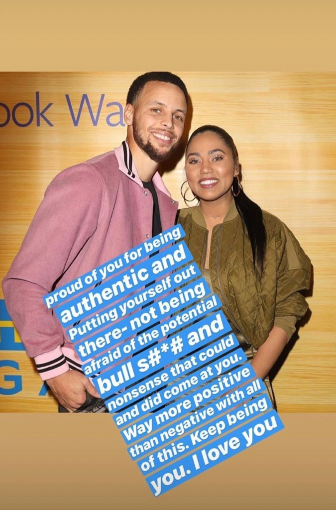 Steph Curry Defends Wife After Backlash Over Male Attention Comments