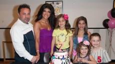 Teresa Giudice with Her Family Celebrating a Birthday