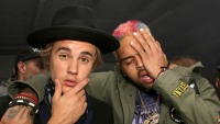 justin bieber support chris brown backlash