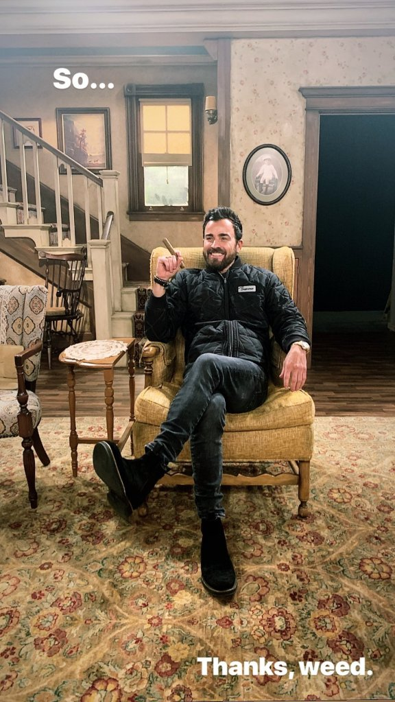 Jennifer Aniston's Ex Justin Theroux Credits Smoking Weed With Jimmy Kimmel for 'All in the Family' Live