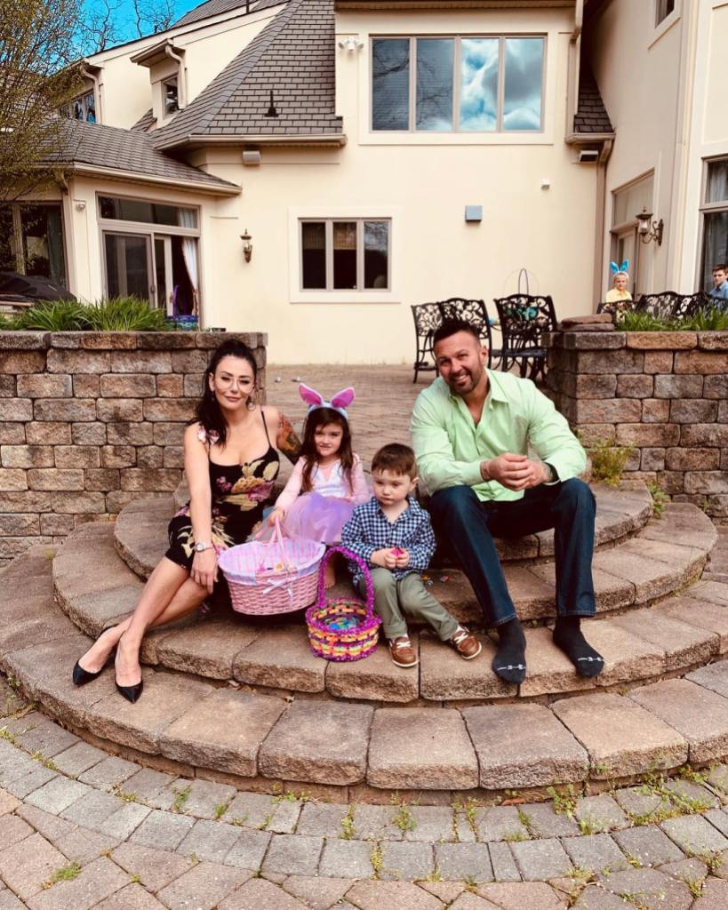 JWoww and Roger Mathews at a House for Easter