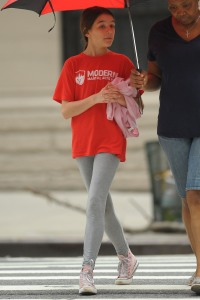Rain, Rain Go Away! Suri Cruise Braves the Weather and Goes for a Walk in NYC