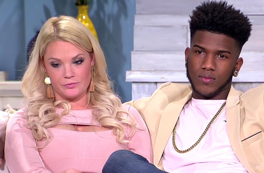 Ashley Martson and Jay Smith Sitting Together Looking Serious