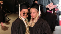Amanda Bynes Graduating from FIDM With a Friend