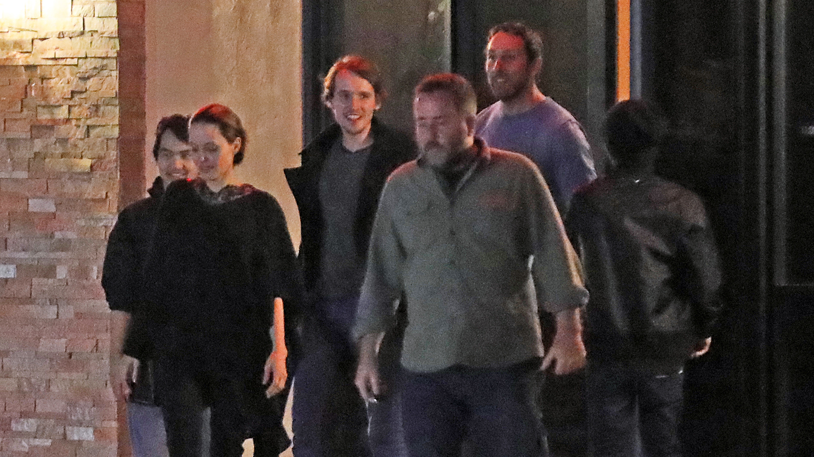 c0e010a79 Angelina Jolie Is All Smiles With Sons Pax and Maddox After Leaving Sushi  Dinner