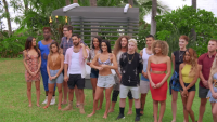 Are You The One Season 8 Cast Standing Outside Before a Challenge