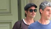 Brad Pitt Wearing Sunglasses While He Leaves His Home in Malibu