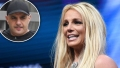 Britney Spears Smiling with Inset of Sam Lutfi Unhappy