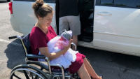 Jessa Duggar Holds Daughter Ivy Jane While Sitting in Wheelchair