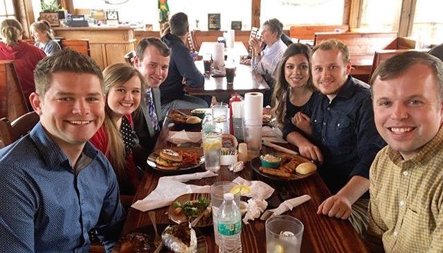 Nathan Bates, Kendra Caldwell and Joseph Duggar Sit Across the Table From Lauren Swanson, Josiah Duggar and John David Duggar