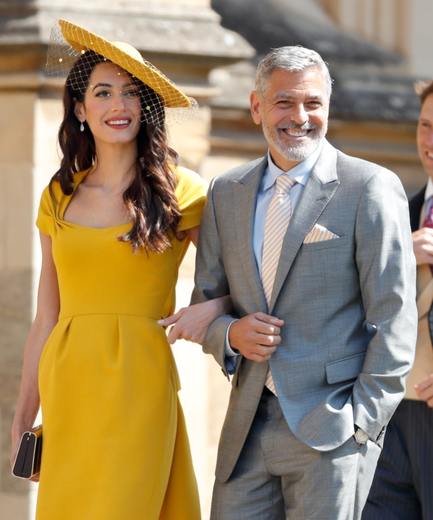 George And Amal Clooney At Royal Wedding