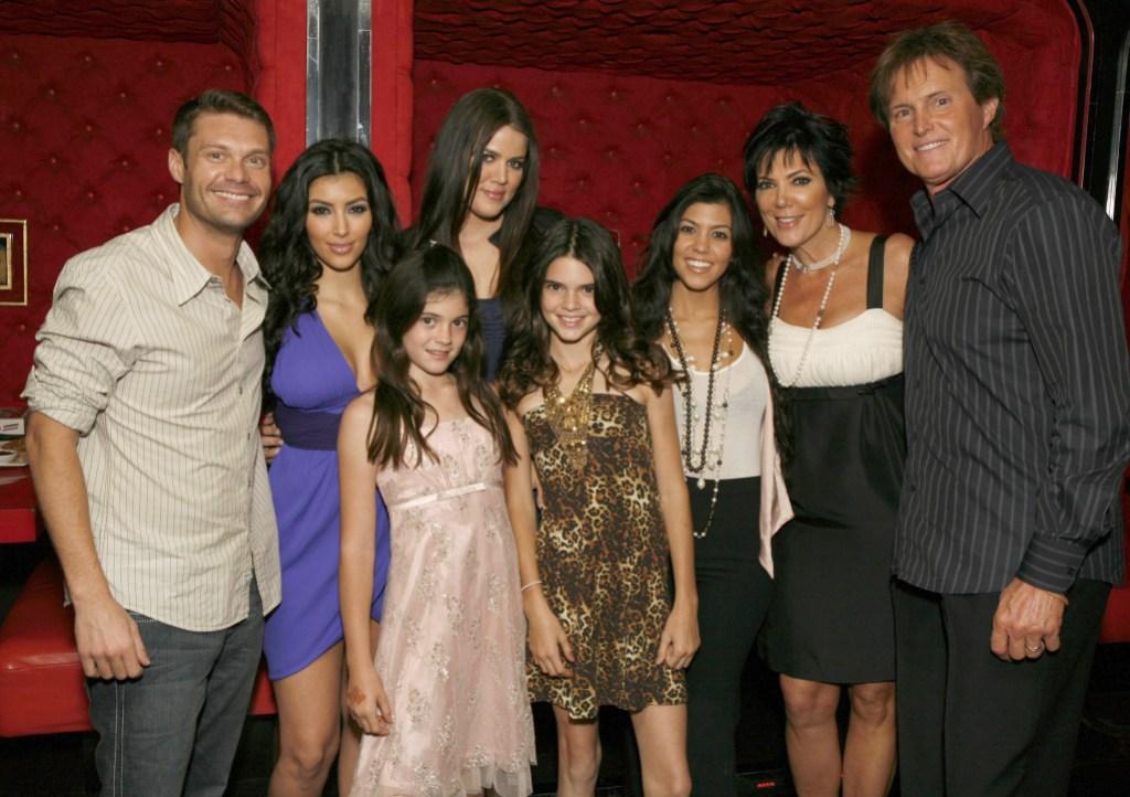 Ryan Seacrest With the Kardashian Clan