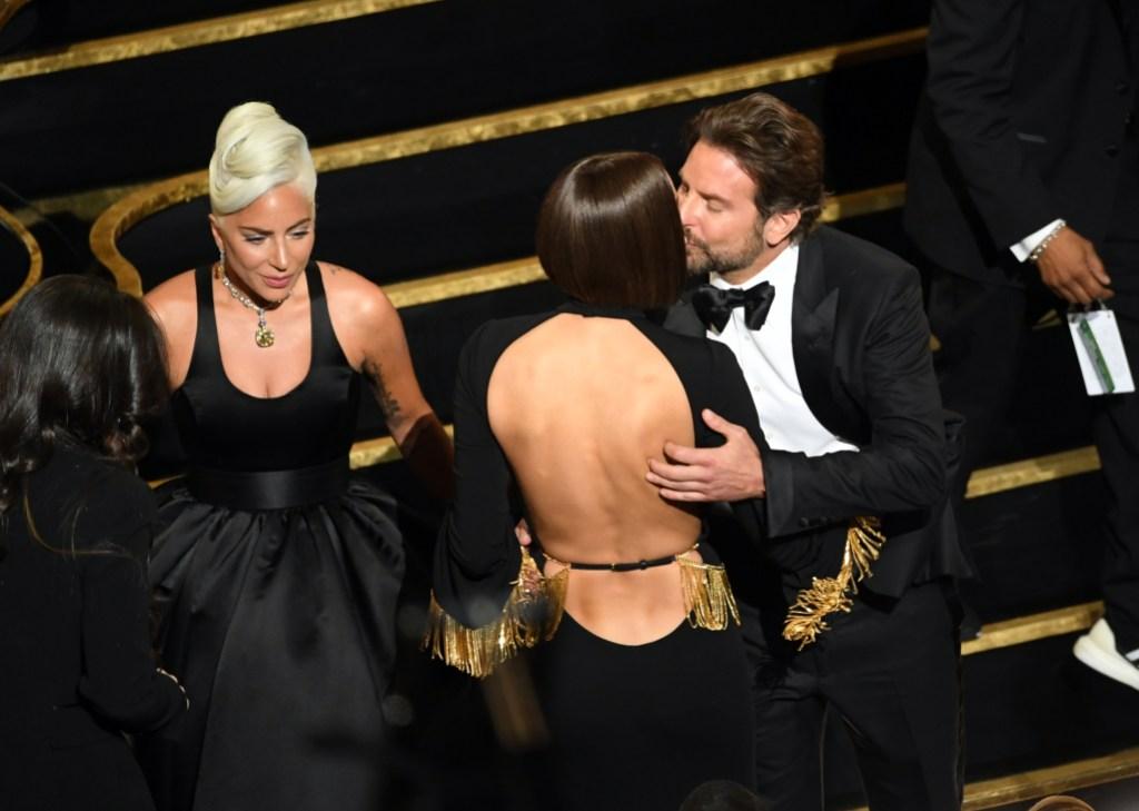 Lady Gaga With Irina Shayk and Bradley Cooper at the Oscars