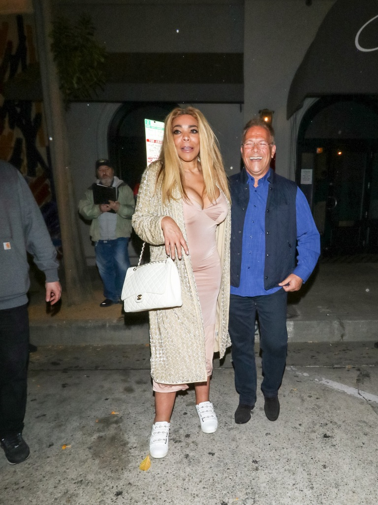 Wendy Williams Wearing a Dress With a Man in California