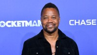 Cuba Gooding Jr Smiles in Black Dress Shirt at Rocketman Premiere Groping Allegations NYC