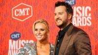 Luke Bryan and Caroline Boyer 2019 CMT Awards red carpet
