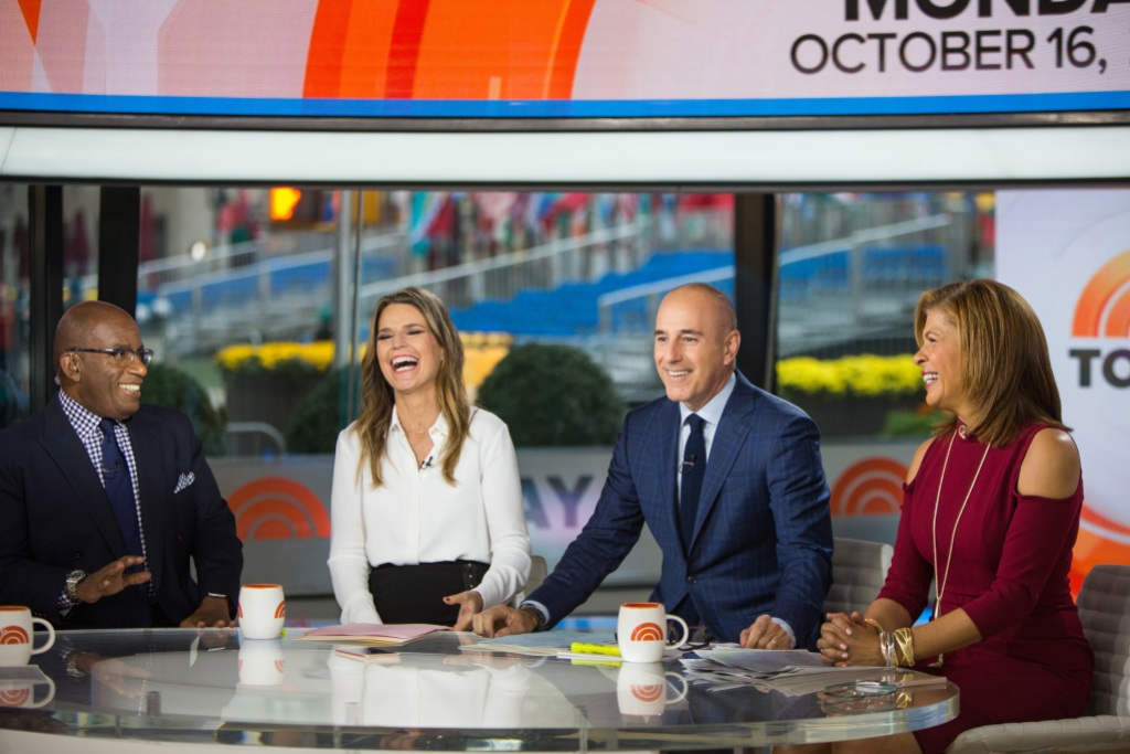 Hoda Kotb, Matt Lauer, Savannah Guthrie and Al Roker on the Today Show