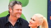 Blake Shelton With Gwen Stefani Smiling at an Event