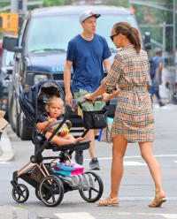 Newly Single Irina Shayk Spotted Taking Daughter Lea for a Stroll in NYC — See Photos!