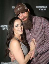 Jenelle Evans Smiles and David Eason Smiles and Wears A Trucker Hat and Long Beard