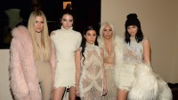 Khloe, Kourtney, Kendall, Kylie, and Kim All Pose Together Wearing Beige