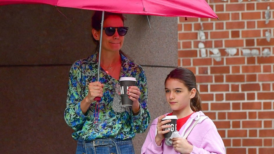 Katie Holmes and Suri Cruise are Spotted on a Coffee Run in NYC