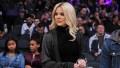 Khloe Kardashian Wearing a Black Outfit at a Basketball Game