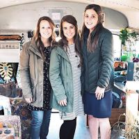 Laura DeMasie Poses with Jana Duggar and Anna Duggar in Winter Coats