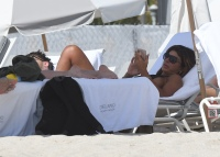 Teresa Guidice on the Beach With Blake Wearing a Swimsuit