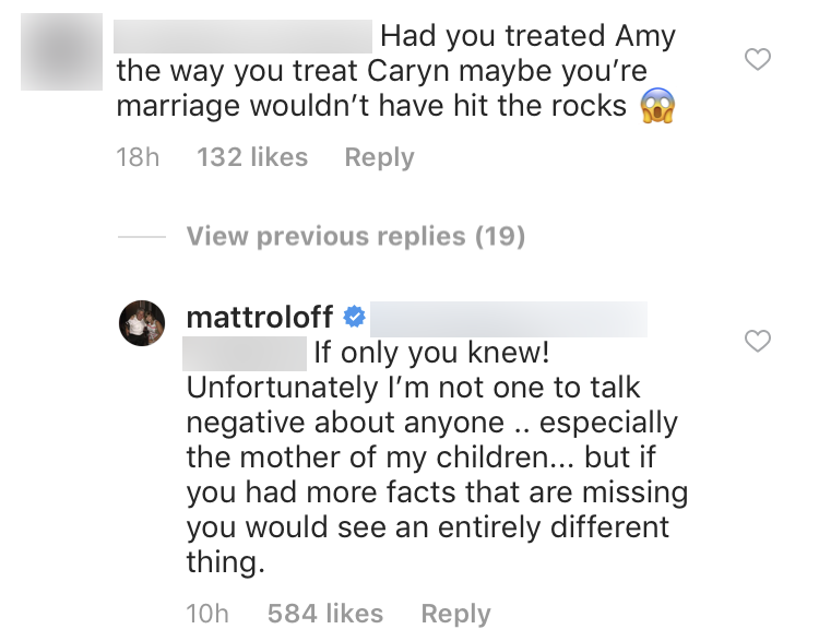 Matt Roloff Responds To Comment About How He Treated Amy