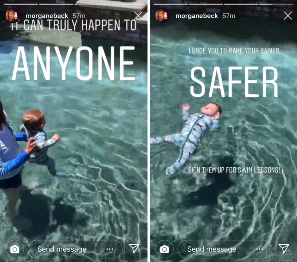 Morgan Miller Urges Swim Lessons for Kids