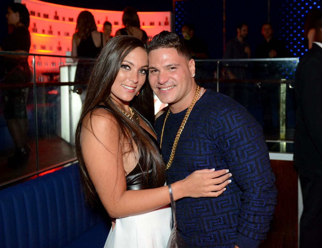 Sammi Sweetheart Giancola Wearing a Black Shirt with Ronnie Ortiz-Magro