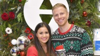 Catherine Giudice Wearing Red With Husband Sean Lowe