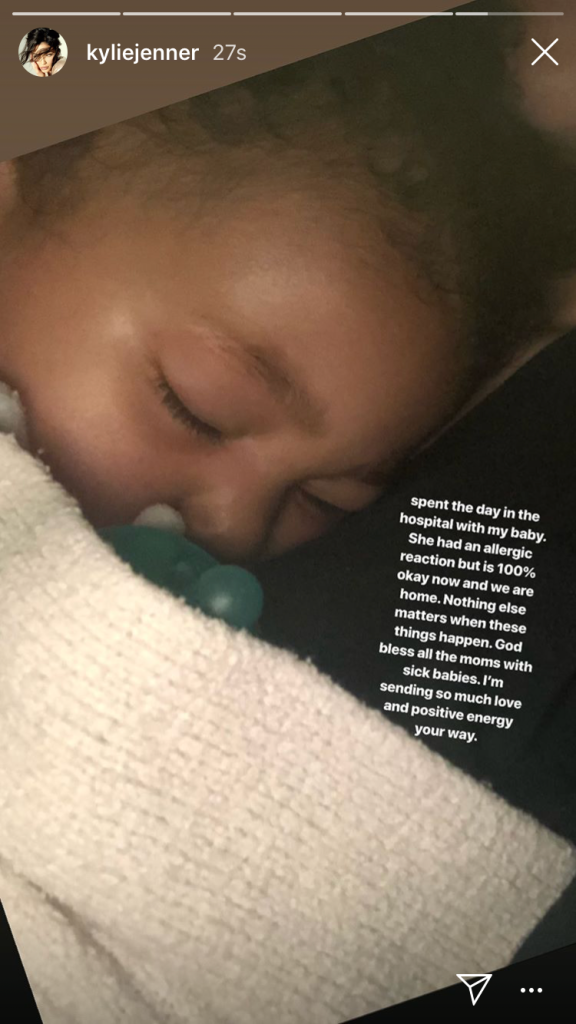 Stormi Webster Allergic Reaction