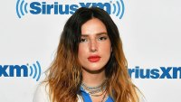 bella thorne wears red lipstick a white top and several silver necklaces bella thorne nude photo hack