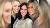 courteney cox jennifer aniston lisa kudrow smile in a selfie friends reunion instagram