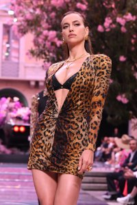 Model Irina Shayk Shows Skin After Bradley Cooper Split at the Versace Show in Milan