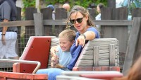 jennifer garner son samuel on ride at disneyland